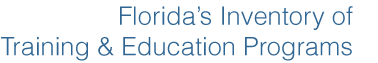 Florida's Inventory of Training and Education Programs